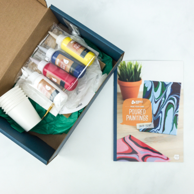 Doodle Crate Subscription Box Review & Coupon – POURED PAINTINGS