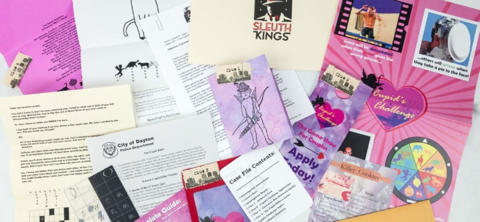 Sleuth Kings Subscription Box Review + Coupons – Case 017 The Cupid Killer