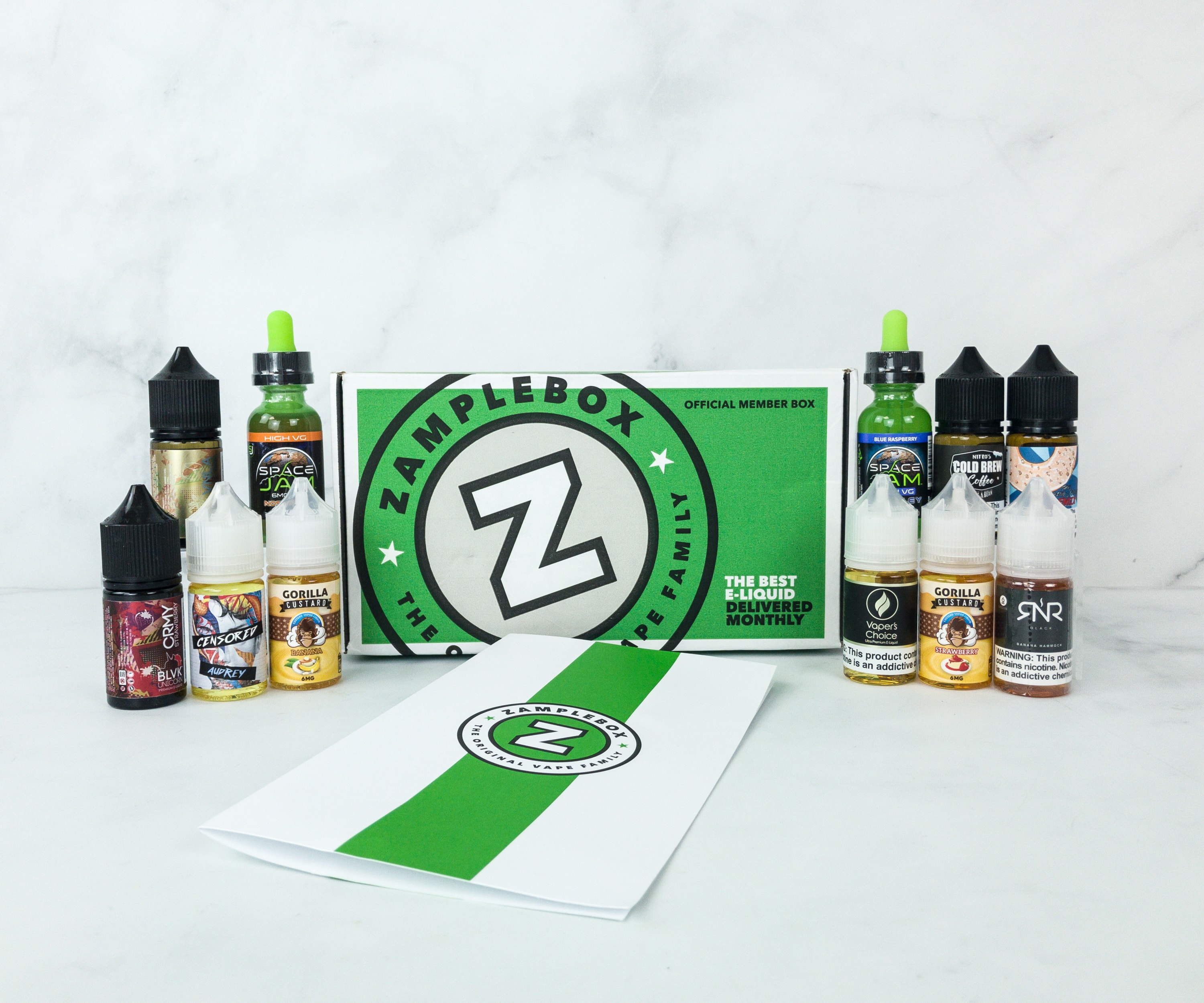 Zamplebox E-Juice March 2019 Subscription Box Review + Coupon!