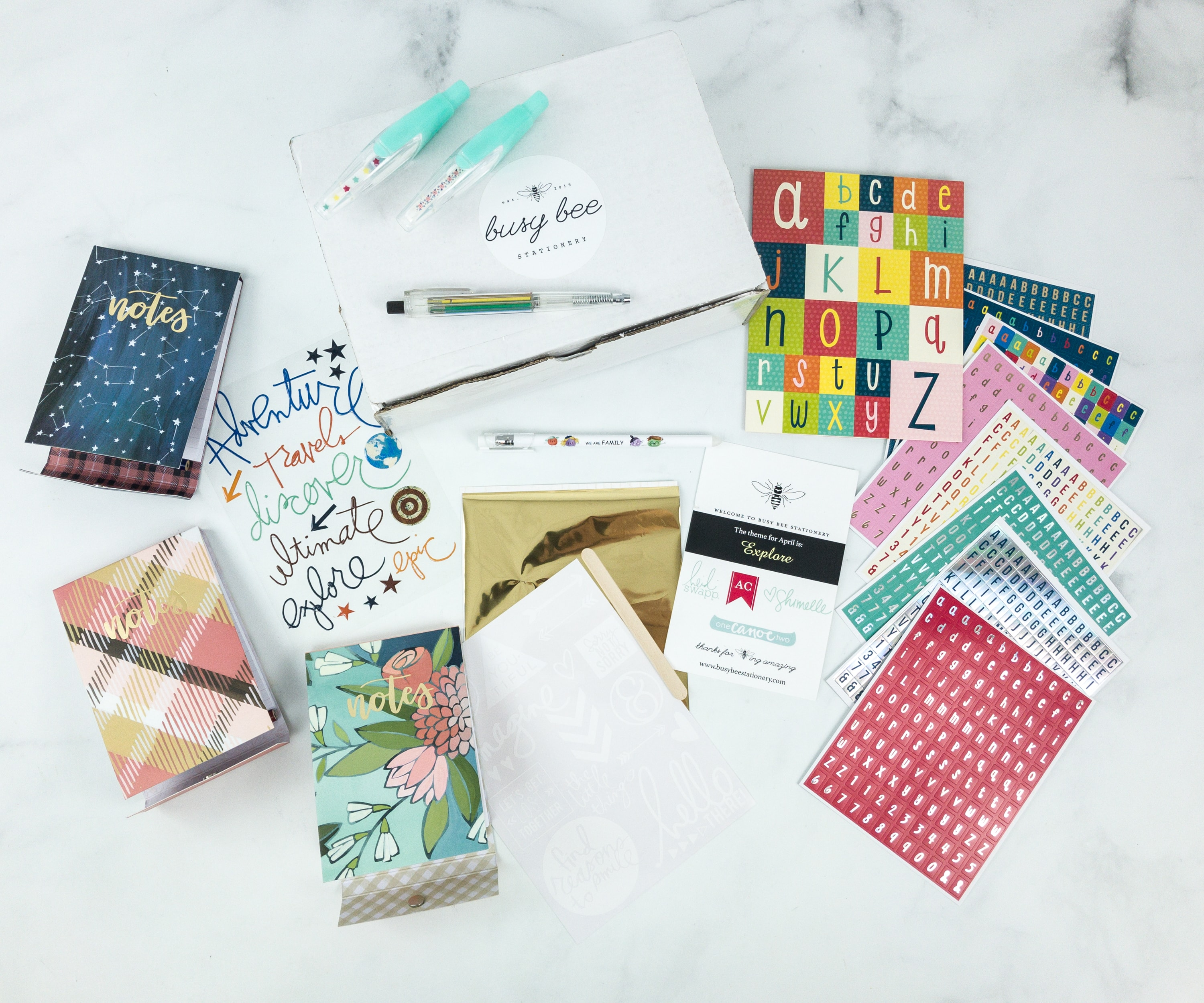 Busy Bee Stationery April 2019 Subscription Box Review