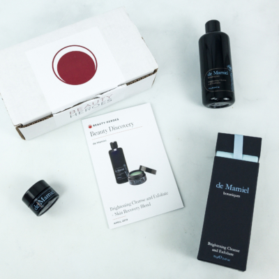 Beauty Heroes April 2019 Subscription Box Review