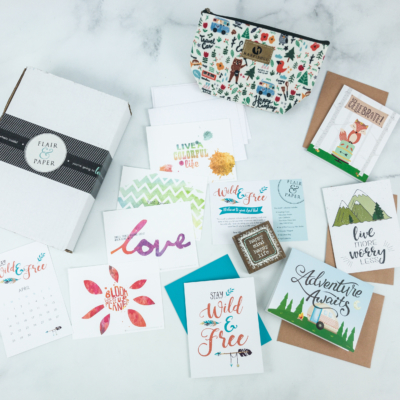 Flair and Paper April 2019 Subscription Box Review & Coupon