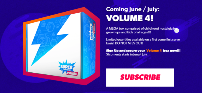 Super Geek Box Prime Volume 4 Franchise Spoilers + Coupon!