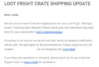 Loot Fright March 2019 Shipping Update + Coupon