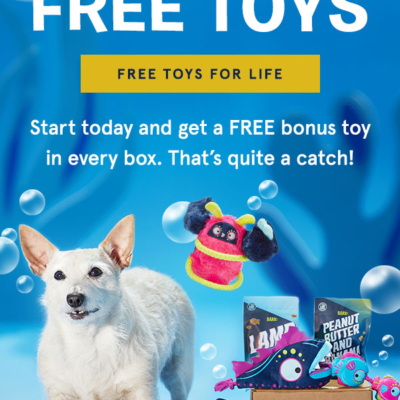 BarkBox Coupon: FREE Extra Toy Club For LIFE!