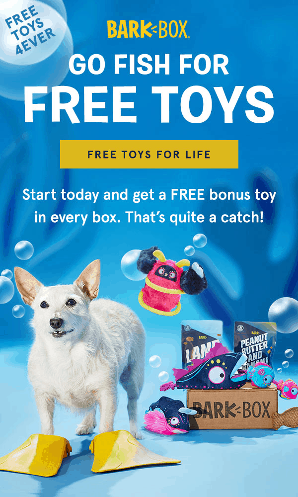 LAST CALL – BarkBox Coupon: FREE Extra Toy Club For LIFE!