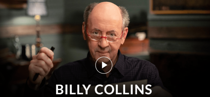 MasterClass Billy Collins Class Available Now!