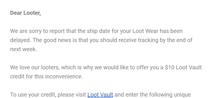 Loot Socks December 2018 – March 2019 Shipping Update!
