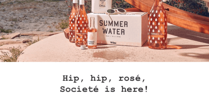 Winc Summer Water 2019 Available Now + Coupon!