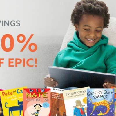 Epic! Kids Books Spring Sale: Get 40% Off!