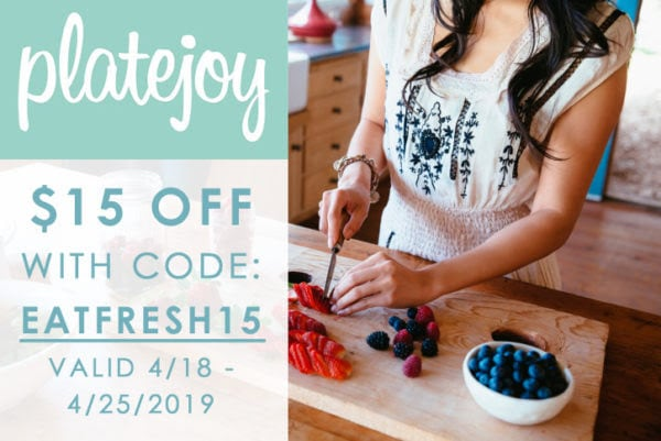 Platejoy Coupon: Get $15 Off!