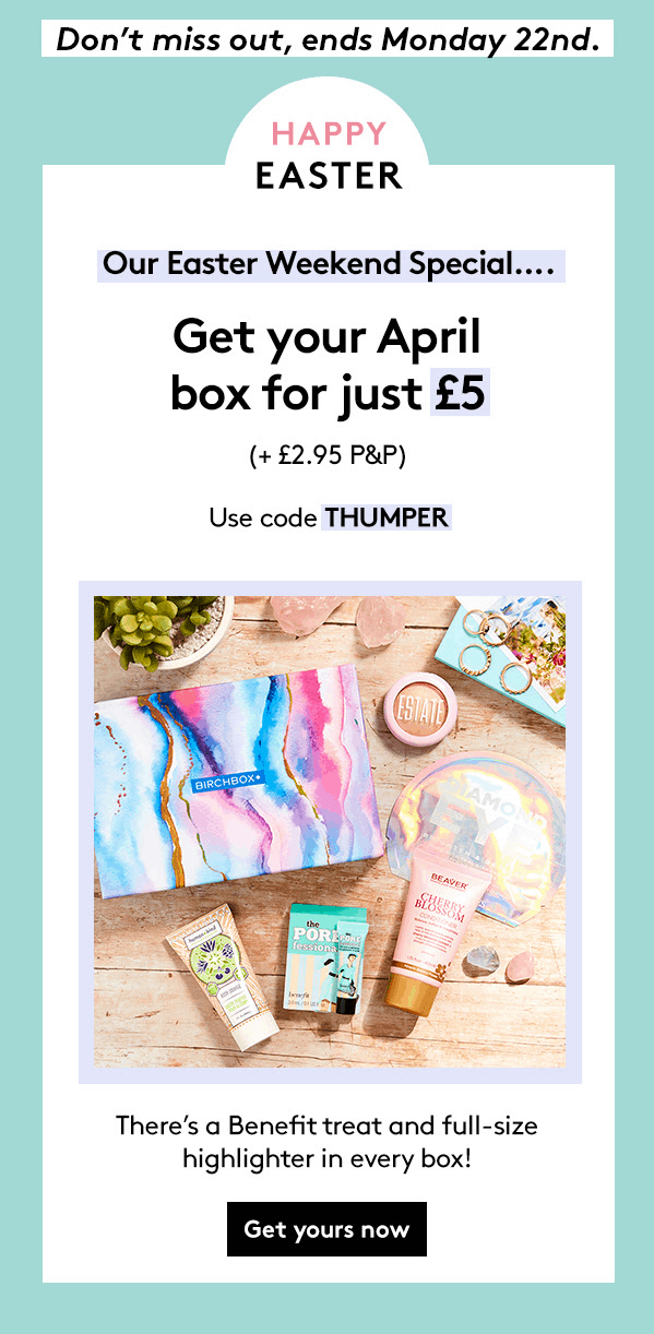 Birchbox UK Easter Sale: Get Your First Box For Just £5!