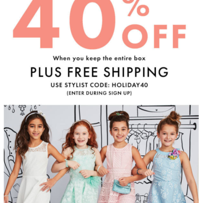 Kidpik Coupon: Get 40% off first box!