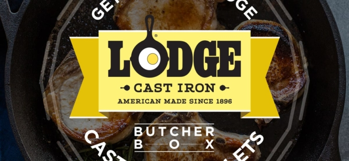 ButcherBox Flash Sale: FREE Cast Iron Skillet OR $50 Coupon From Lodge!