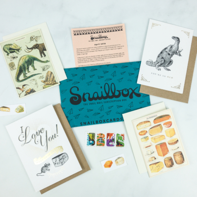 Snailbox April 2019 Subscription Box Review + Coupon