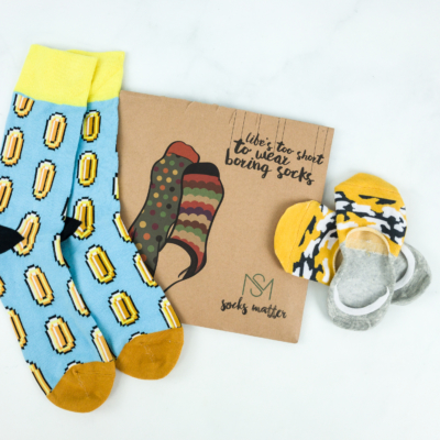 Socks Matter April 2019 Subscription Box Review + Coupon
