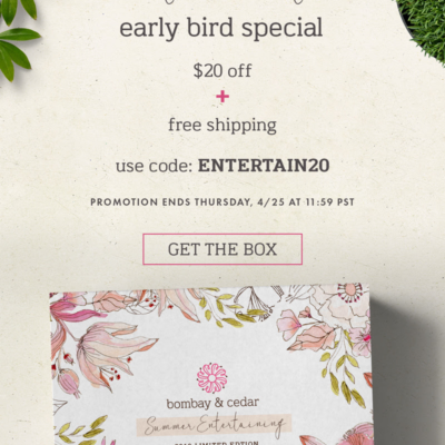Bombay & Cedar Summer 2019 Limited Edition Box Available Now + $20 Off Coupon!