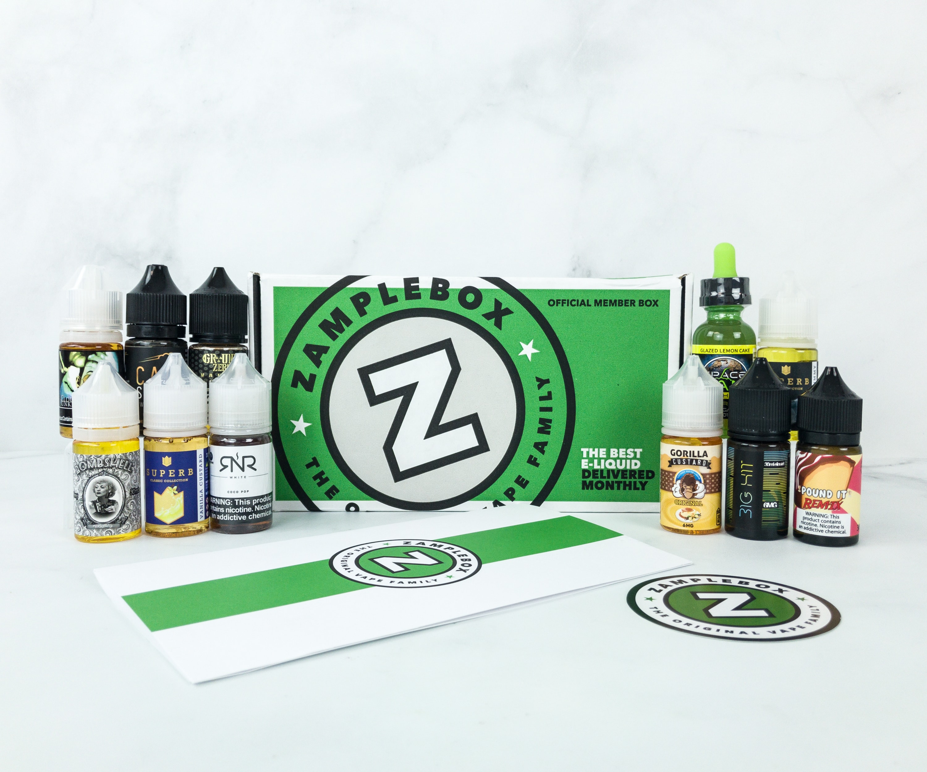 Zamplebox E-Juice April 2019 Subscription Box Review + Coupon!