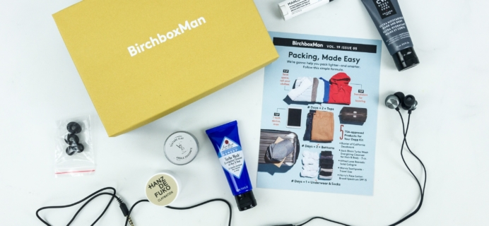 Birchbox Man May 2019 Subscription Box Review & Coupon