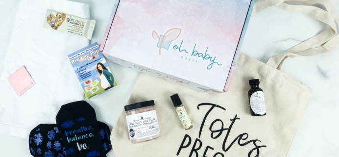 Oh Baby Boxes Subscription Box Review – FIRST TRIMESTER