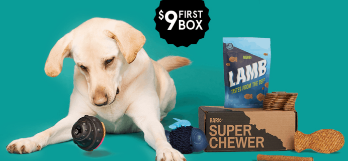 BarkBox Super Chewer Coupon: First Month $9!