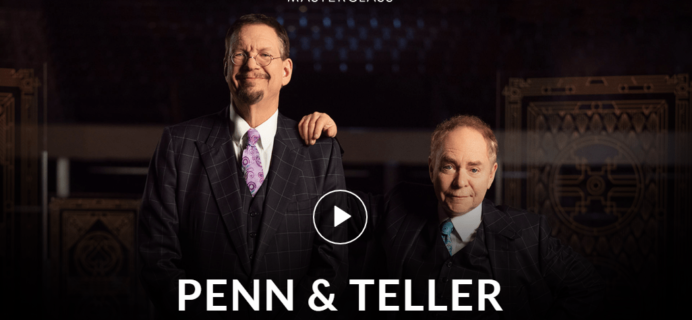 MasterClass Penn & Teller Class Available Now!