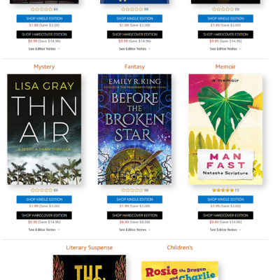 Amazon First Reads May 2019 Selections: 1 Book Free for Amazon Prime Members