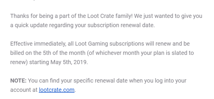 Loot Gaming Subscription Update!