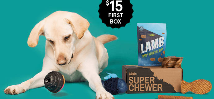 BarkBox Super Chewer Coupon: First Month $15!