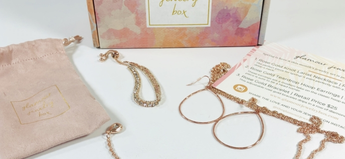 Glamour Jewelry Box April 2019 Subscription Box Review + Coupon