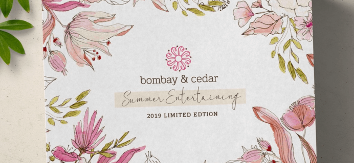 Bombay & Cedar Summer 2019 Limited Edition Box Spoiler #5 + Coupon!