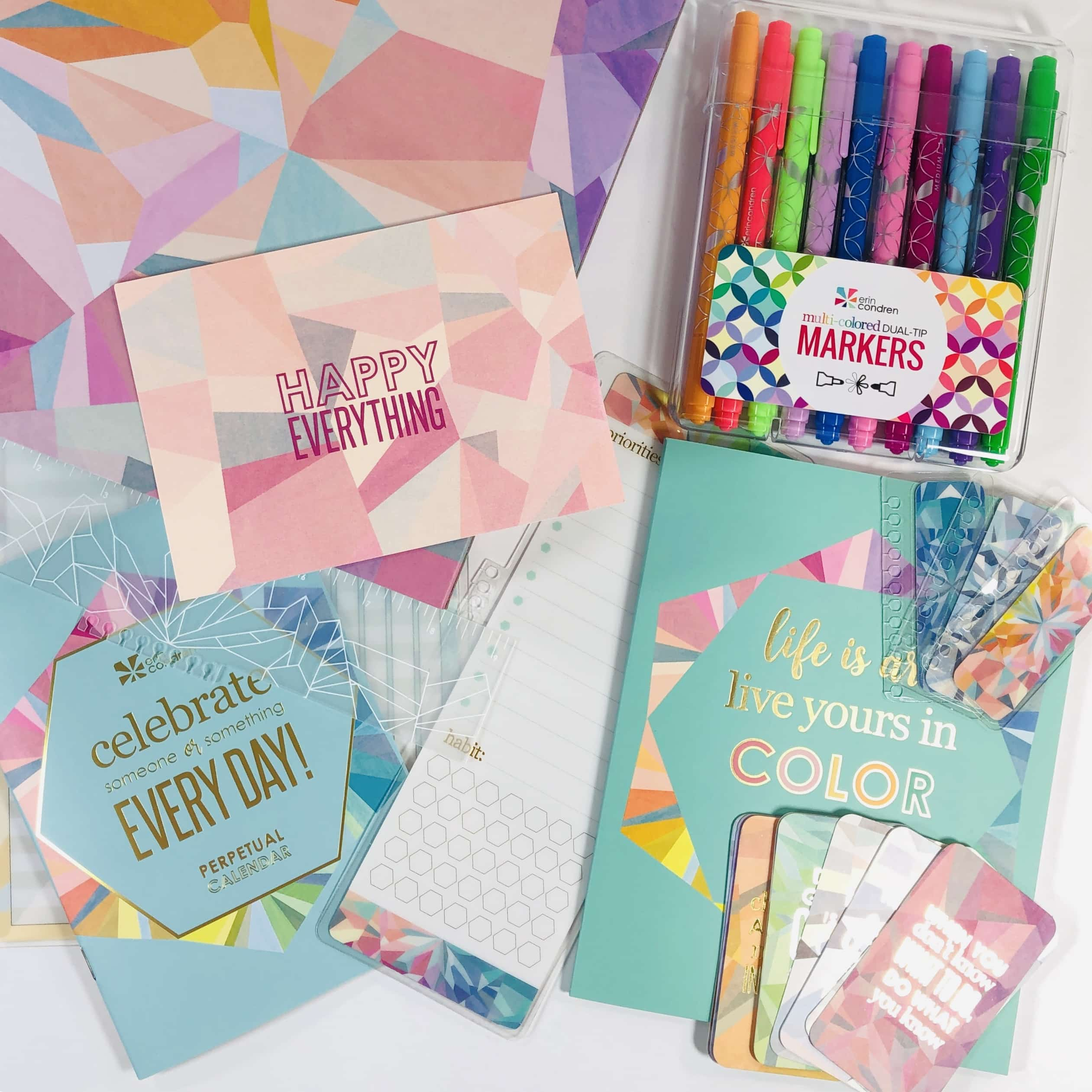 Erin Condren New Product Launch Review May 2019 - hello subscription