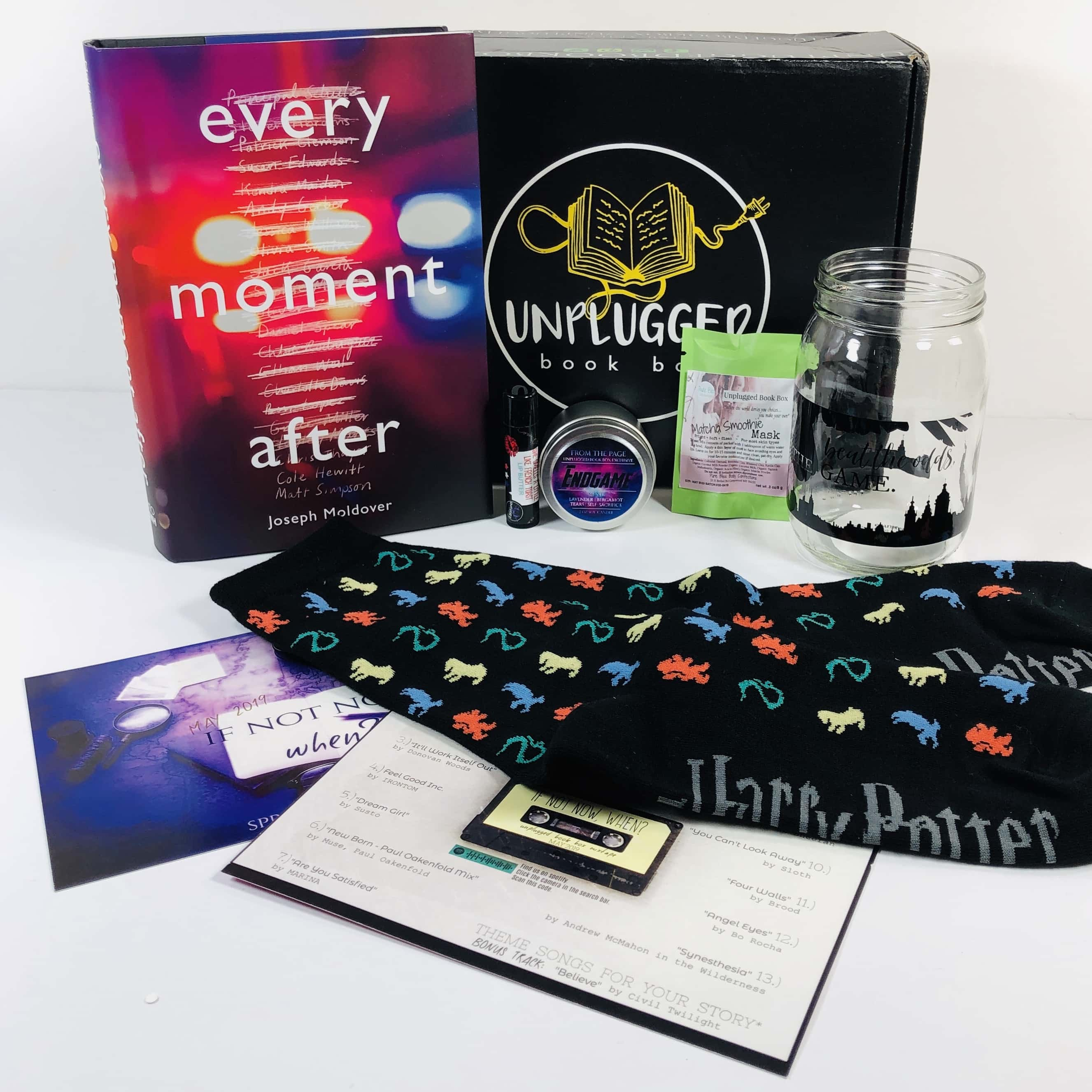 Unplugged Book Box Young Adult May 2019 Subscription Box Review