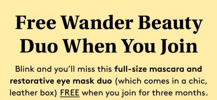 Birchbox Coupon Code: FREE Wander Beauty Duo!
