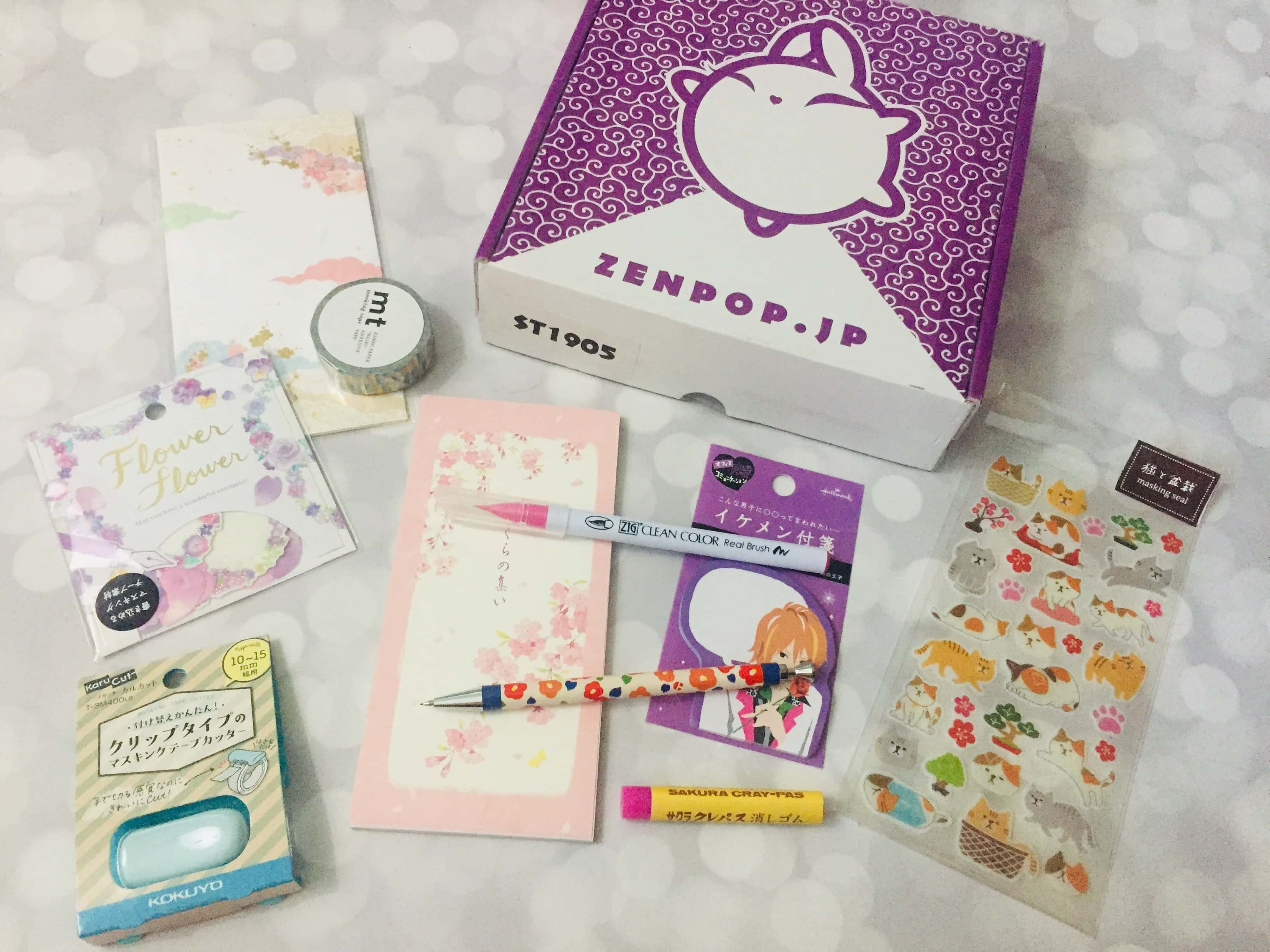 ZenPop Japanese Packs May 2019 Review – Stationery Box