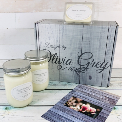 Designs by Olivia Grey All Natural Candle Subscription Box Spring 2019 Review + Coupon