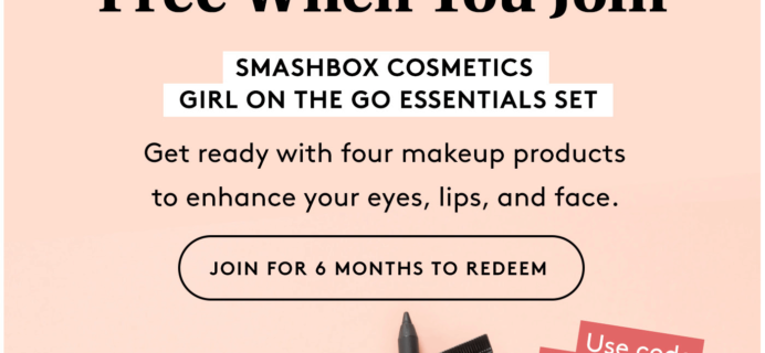 Birchbox Coupon: FREE Smashbox Makeup Set!