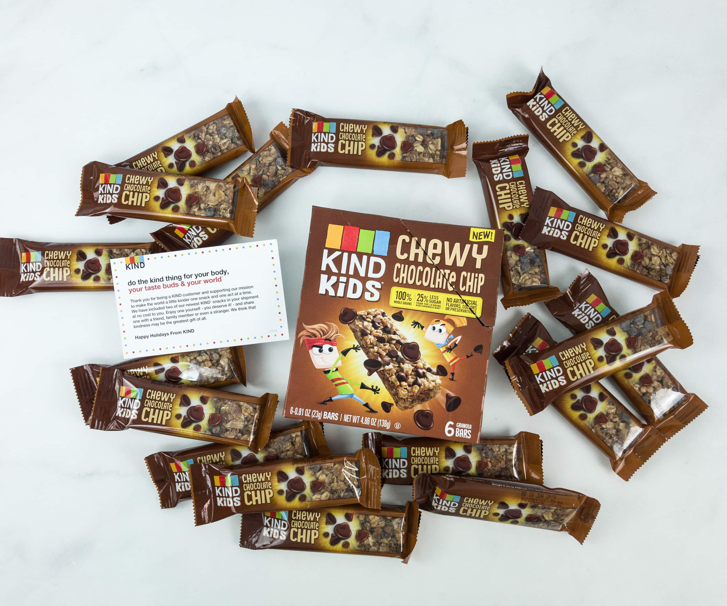 KIND Snack Club Subscription Box Review + $20 Off Coupon – Kids Chewy Chocolate Chip Bars