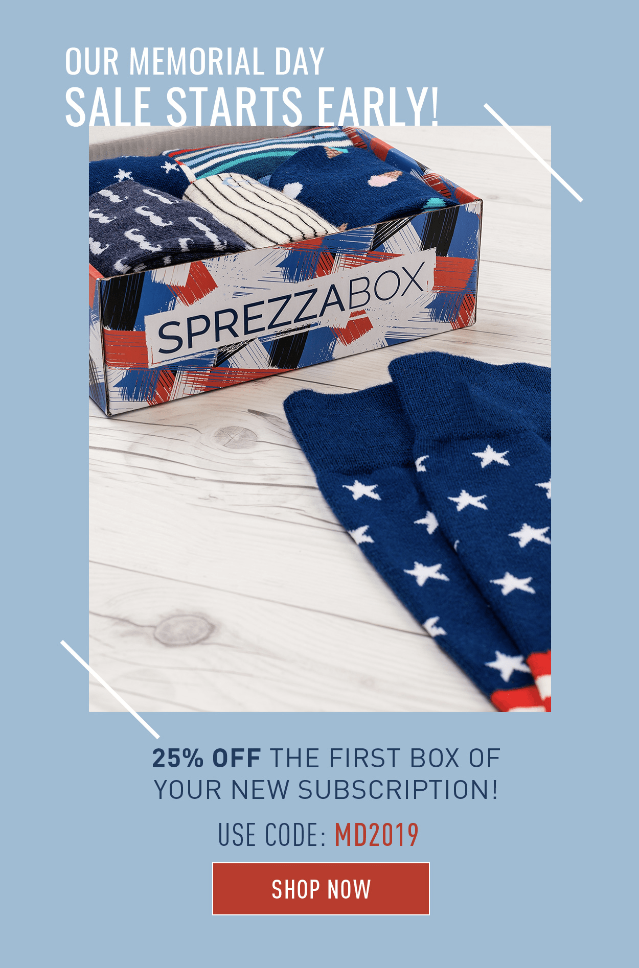 SprezzaBox Memorial Day Coupon – 25% Off First Box!