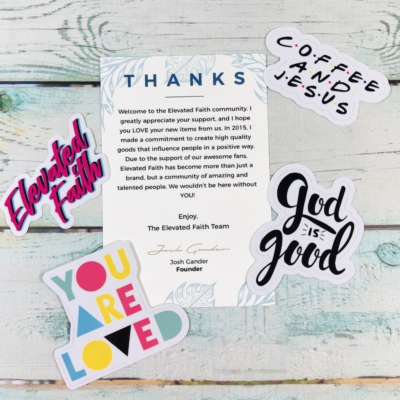 Elevated Faith Sticker Club May 2019 Subscription Box Review + Coupon