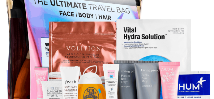 New Sephora Kit Available Now + Coupons – The Ultimate Travel Bag!