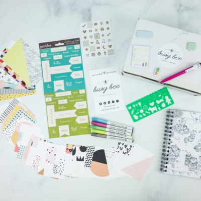Busy Bee Stationery May 2019 Subscription Box Review