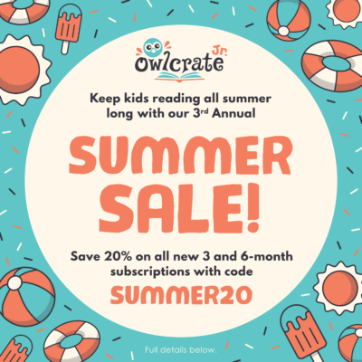 OwlCrate Jr. Summer Sale: Get 20% Off!