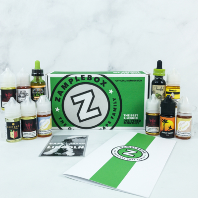 Zamplebox E-Juice May 2019 Subscription Box Review + Coupon!