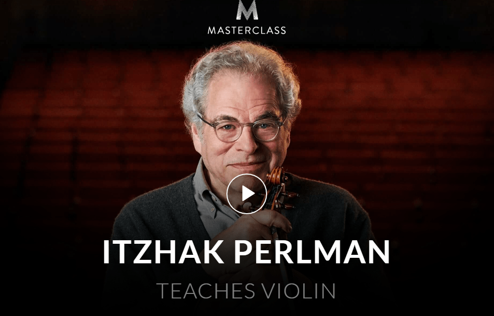 MasterClass Itzhak Perlman Class Available Now!