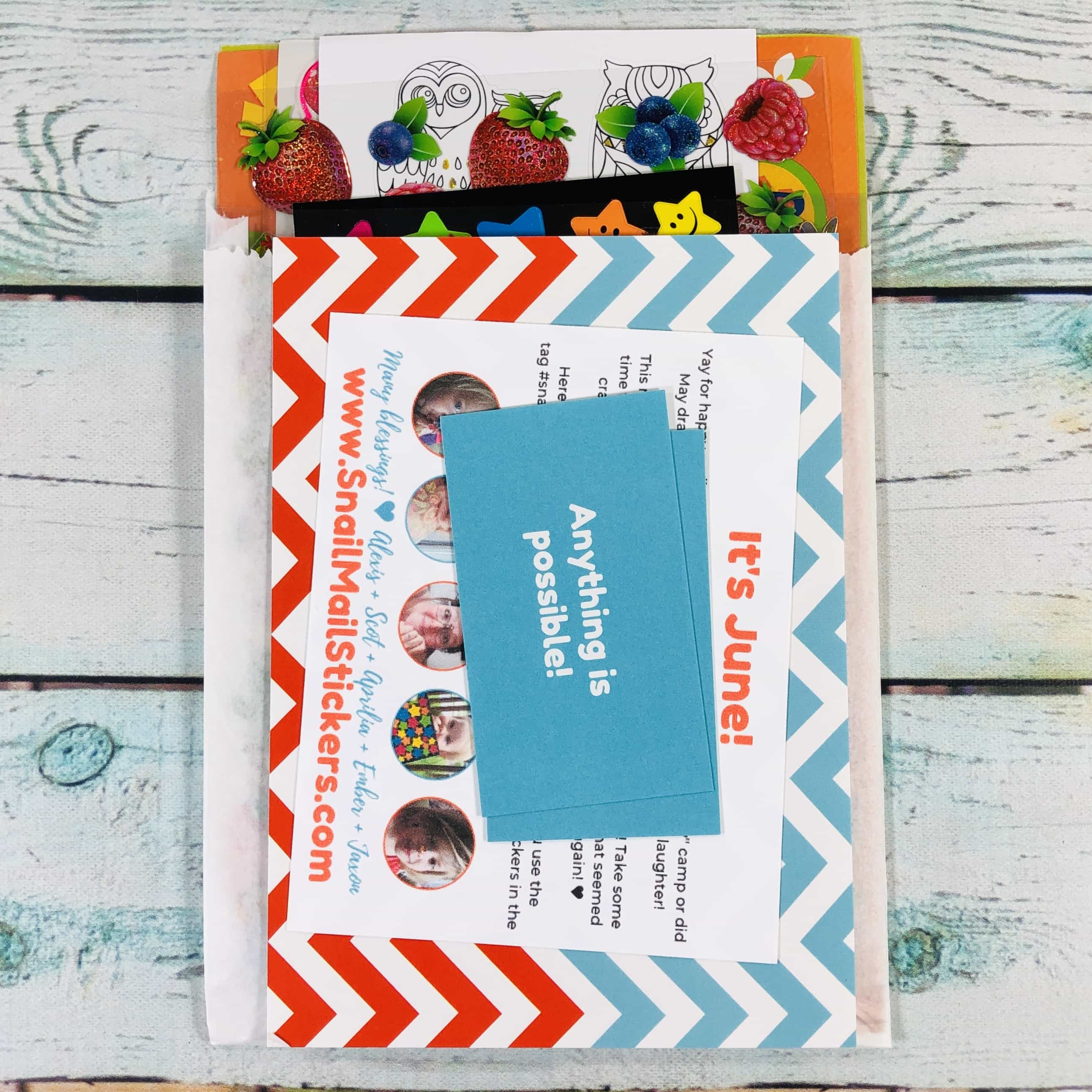 Snail Mail Sticker Club June 2019 Subscription Box Review + Coupon ...