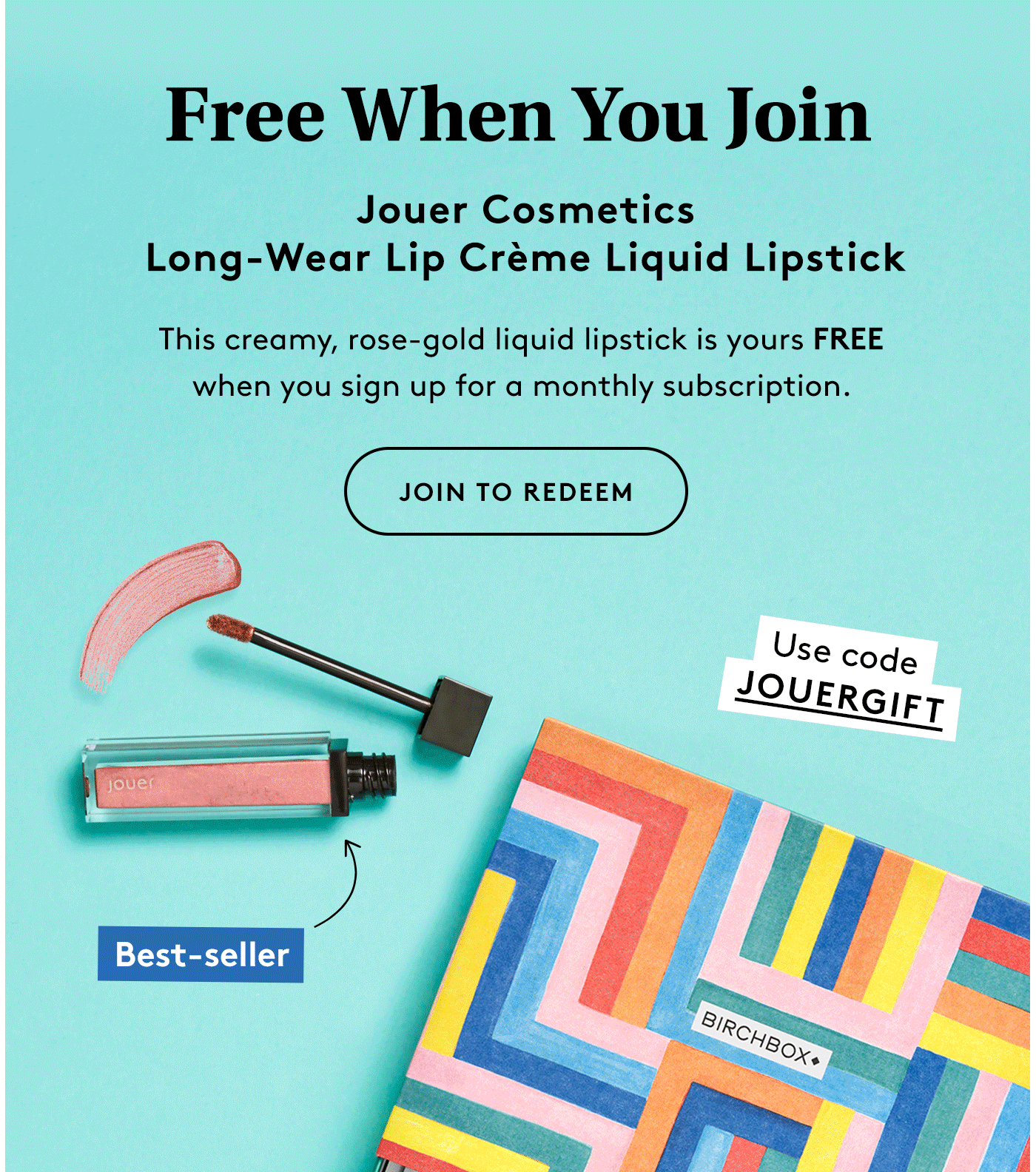 Birchbox Coupon: FREE Jouer Cosmetics Liquid Lipstick!