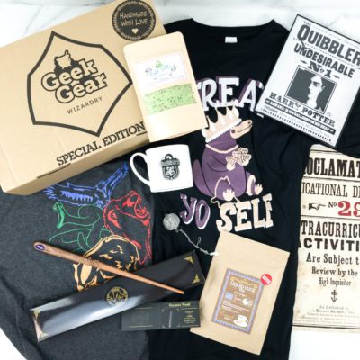 Geek Gear World of Wizardry April 2019 Special Edition Box Review