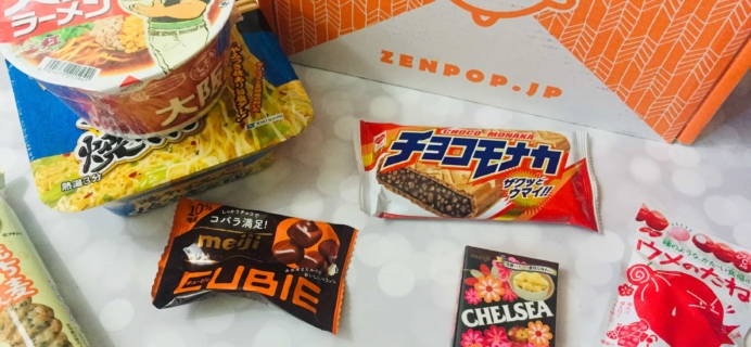 ZenPop Japanese Packs July 2019 Review – Ramen + Sweets Mix Pack *