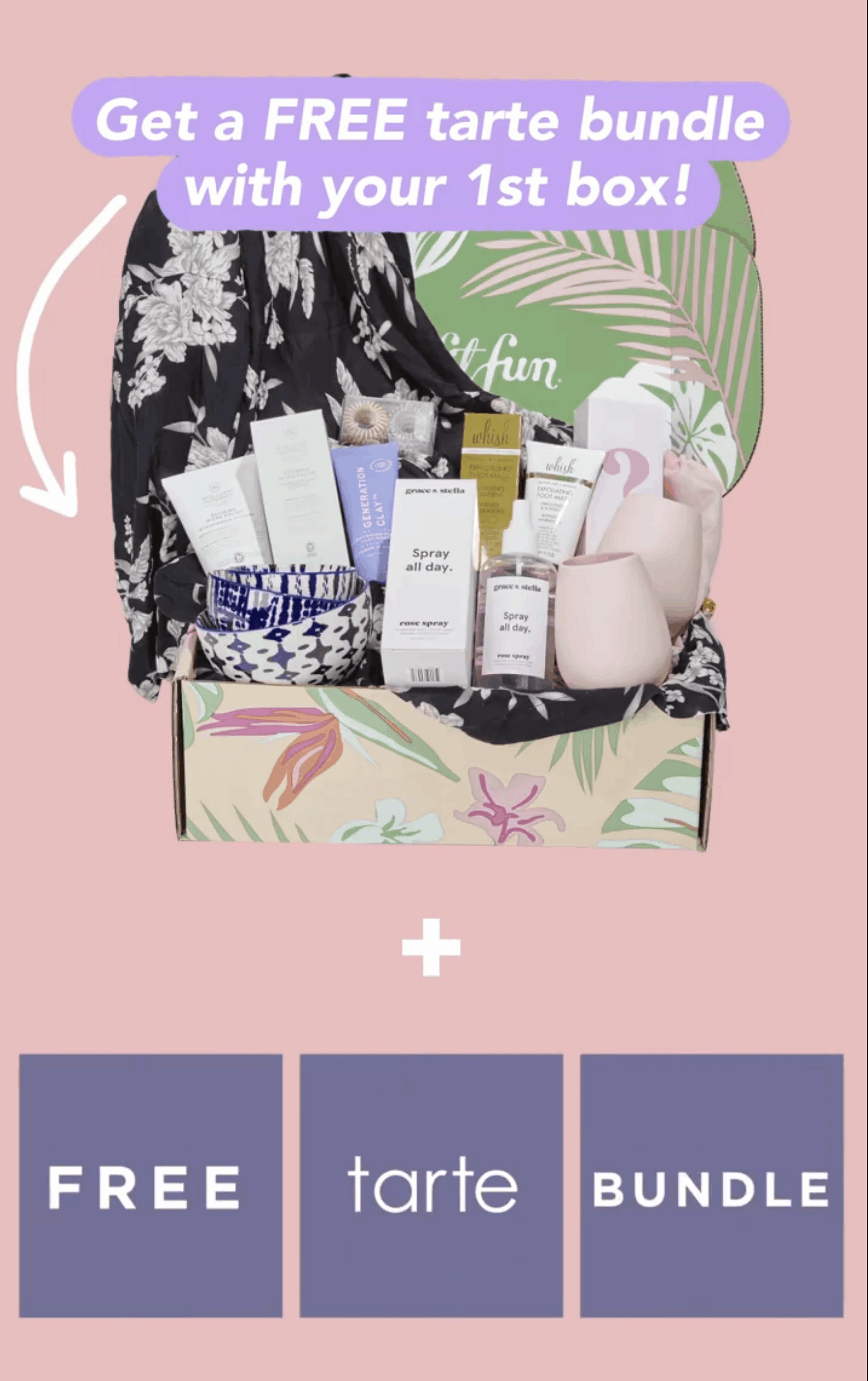 FabFitFun Sale: FREE $125 Value Tarte Cosmetics Bundle!